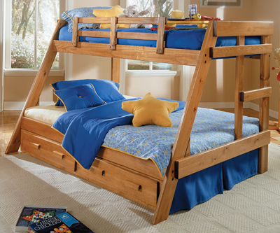 B3934 TWIN OVER FULL BUNK BED W/ UNDERSTORAGE