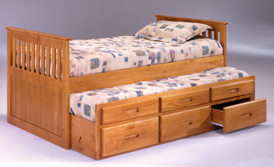 B3232 PINE CAPTAINS BED