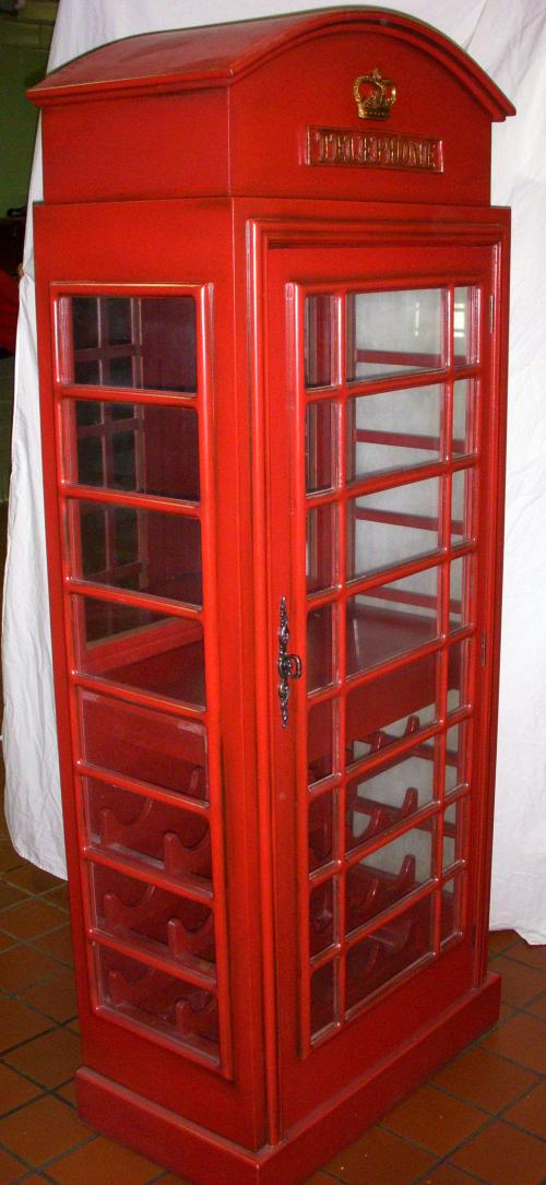 Telephone Booth Wine Cabinet Twr